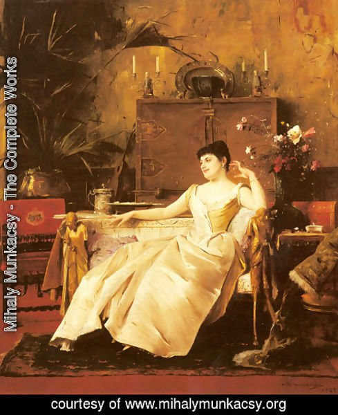 Mihaly Munkacsy - A Portrait of the Princess Soutzo