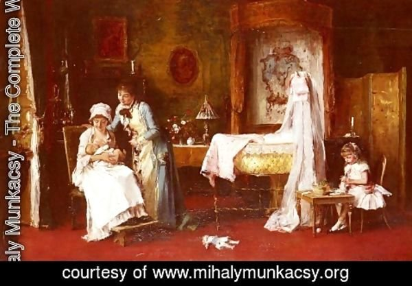 Mihaly Munkacsy - Maternal Happiness