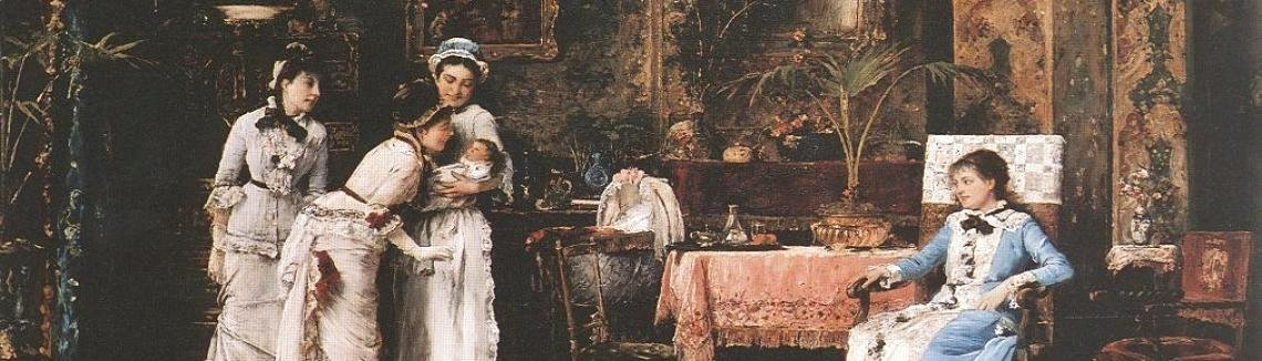 Mihaly Munkacsy - Baby's Visitors