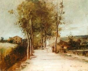 Mihaly Munkacsy - Avenue with One Story House 1882