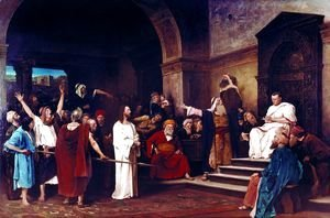 Mihaly Munkacsy - Christ before Pilate 1881
