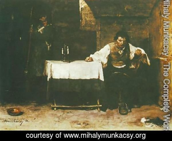 Mihaly Munkacsy - Condemned Cell (The Convict) 1869 72
