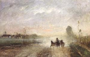 Mihaly Munkacsy - Dusty Country Road I 1874