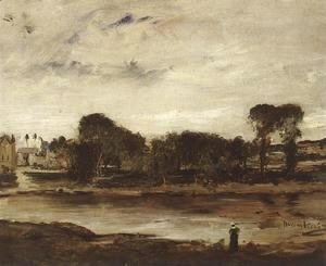 Mihaly Munkacsy - Landscape with River 1880