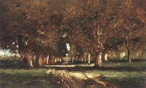 Mihaly Munkacsy - Line of Trees 1886