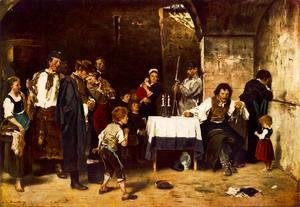 Mihaly Munkacsy - The Condemned Cell II 1880