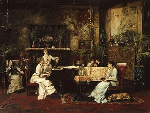 Mihaly Munkacsy - The Music Room 1878