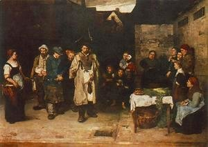 Mihaly Munkacsy - Tramps at Night 1872 73
