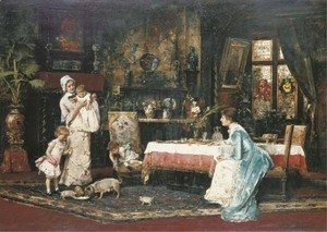 Mihaly Munkacsy - The Two Families