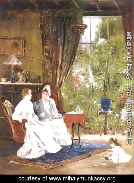 Mihaly Munkacsy - In The Conservatory