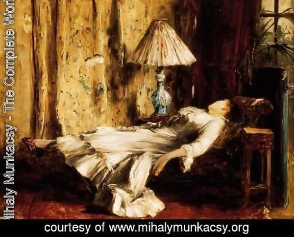 Mihaly Munkacsy - Relaxing Lady
