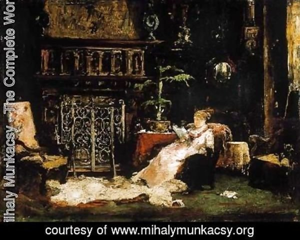 Mihaly Munkacsy - Paris Saloon (Wife of the Artist)