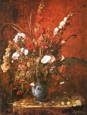 Large Flower-piece (Nagy viragcsendelet)  1881