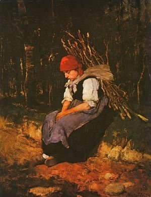 Mihaly Munkacsy - Woman Carrying Faggots (Rozsehordo no)  1873