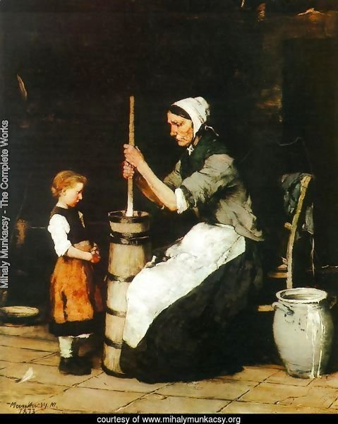 Woman Churning (Kopulo asszony)  1872-73